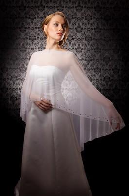 """Alexandra"" [C300] - sheer white mesh, preciosa crystals ($189)"