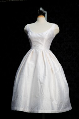 1950's Inspired Cocktail Wedding Dress