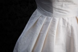 Front pleating detail