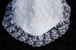 Closeup lace hem